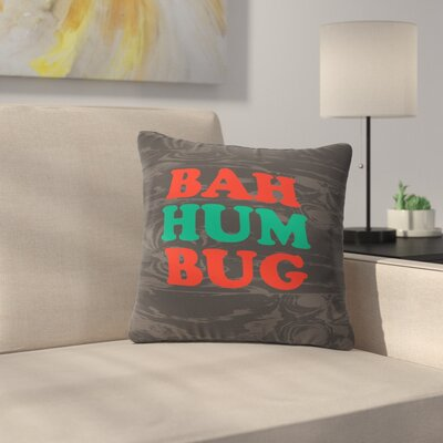 Zoe Wodarz Bah Humbug Throw Pillow Size: 20 x 20