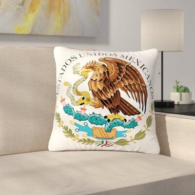 Bruce Stanfield Mexico Emblem Outdoor Throw Pillow Size: 18 H x 18 W x 5 D