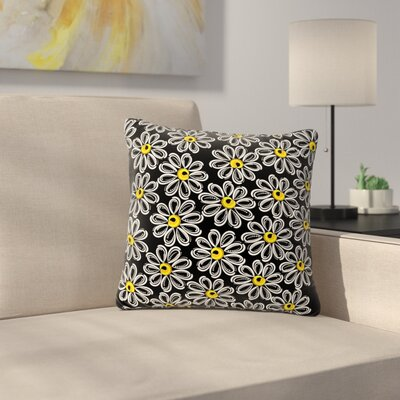 Maria Bazarova Chamomile Floral Outdoor Throw Pillow Size: 16 H x 16 W x 5 D