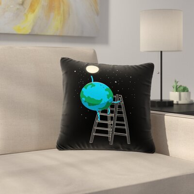 Digital Carbine Reach the Moon Illustration Outdoor Throw Pillow Size: 18 H x 18 W x 5 D
