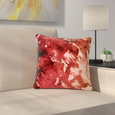 Ebi Emporium Splash Lavender Blush Outdoor Throw Pillow Size: 18 H x 18 W x 5 D, Color: Red/Coral