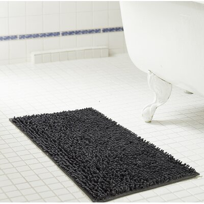 Deavers Bath Rug Size: 17 W x 24 L, Color: Charcoal