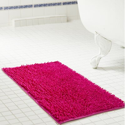 Deavers Bath Rug Size: 20 W x 32 L, Color: Fuchsia