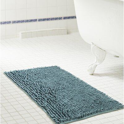 Deavers Bath Rug Size: 17 W x 24 L, Color: Wedgewood