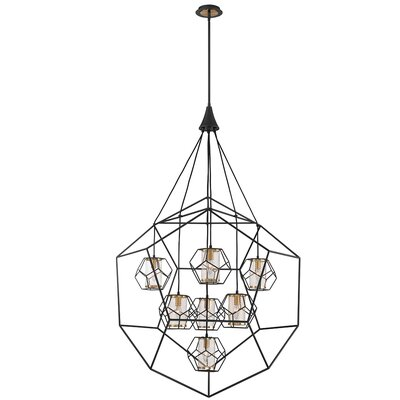 Luker Caged 7-Light Geometric Pendant