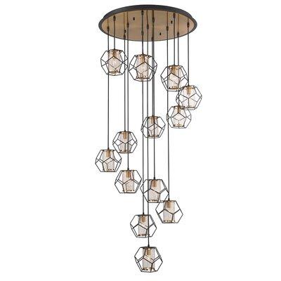 Luker Caged 13-Light Cluster Pendant
