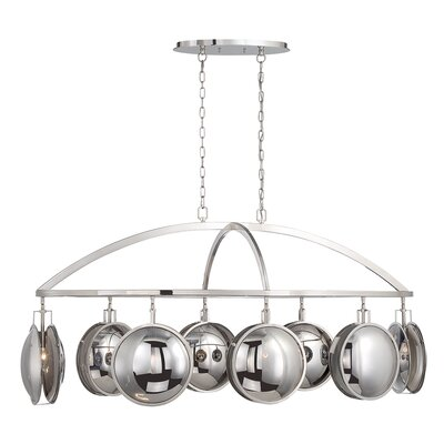 Lulsgate Mercury Sphere Glass 6-Light Kitchen Island Pendant