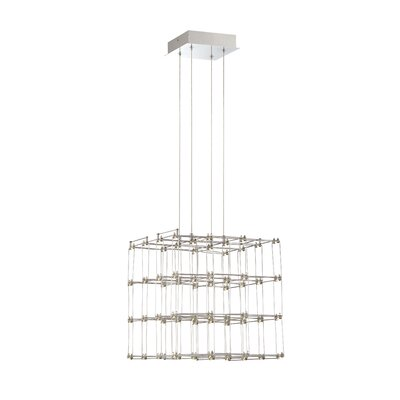 Morais Square Cage LED Drum Pendant