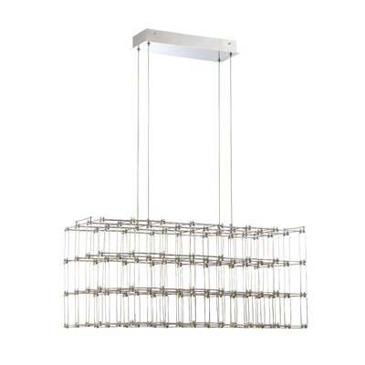 Morais Rectangular Cage LED Kitchen Island Pendant