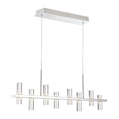 Marzano Linear 8-Light LED Kitchen Island Pendant