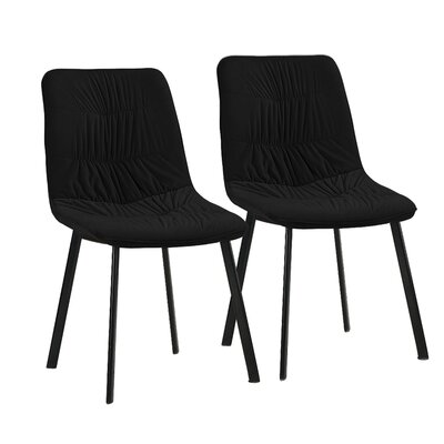 Mascarenaz Upholstered Dining Chair Upholstery Color: Black