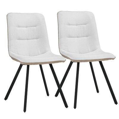 Gologan Upholstered Dining Chair Finish: Beige/White
