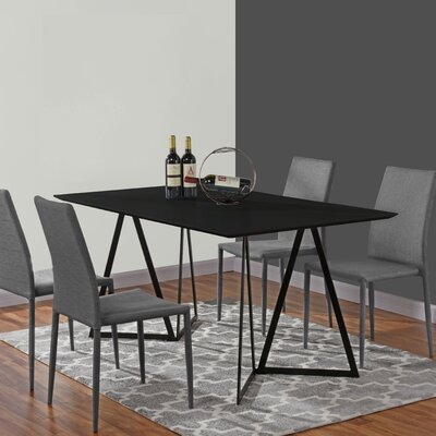 Ravsten Contemporary Dining Table Top Color: Black