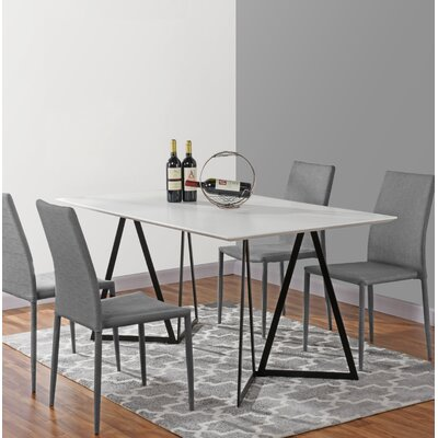 Ravsten Contemporary Dining Table Top Color: White