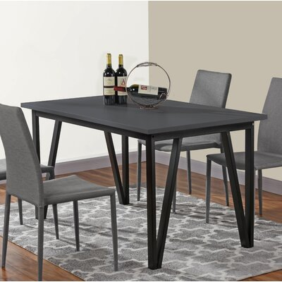 Bogovic Contemporary Dining Table Top Color: Gray