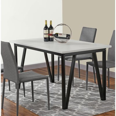 Bogovic Contemporary Dining Table Top Color: White