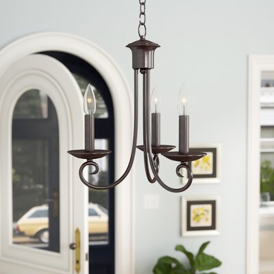 Calafia 3-Light Candle-Style Chandelier Color: Oil Rubbed Bronze