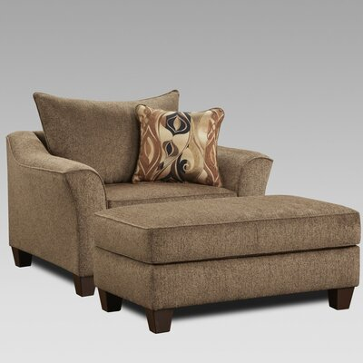 Campanella 2 Piece Living Room Set Upholstery: Brown