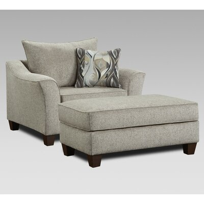 Campanella 2 Piece Living Room Set Upholstery: Platinum