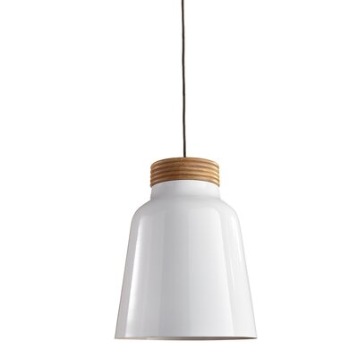 Clayborn 1-Light Inverted Pendant Finish: White