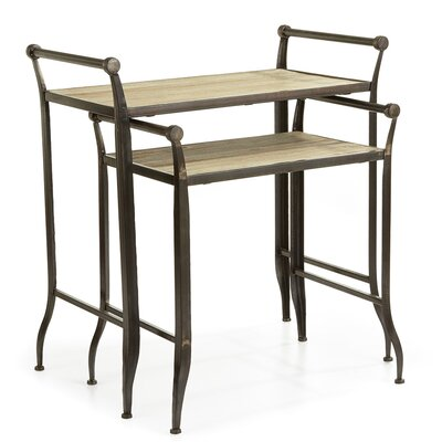 Neuville Farmhouse 2 Piece Nesting Tables
