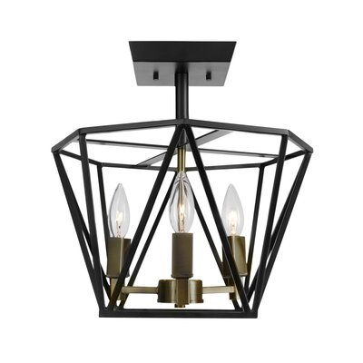 Lawrence Hill 3-Light Semi Flush Mount