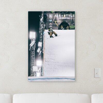 'Snowboard Jump' Photographic Print on Canvas B5335F84C04C4EBD92D9D7D6606FFF75
