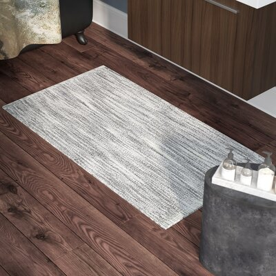 Boell Cotton Slub Bath Rug Size: 21 W x 34 L, Color: Light Gray