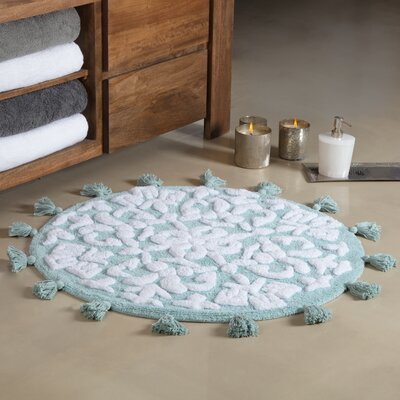 Radle Round Tufted With Tassels Bath Rug Color: Arctic/White