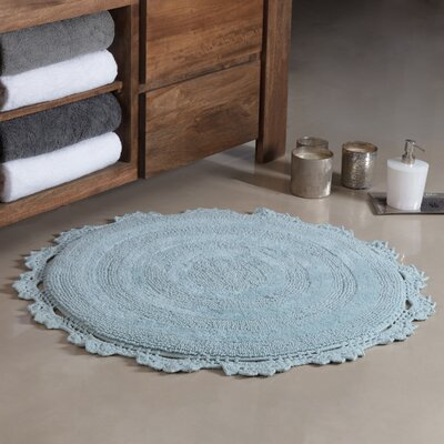 Gottschalk Crochet Border Tufted Bath Rug Color: Arctic