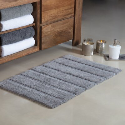 Douberly Handloom Stripe Bath Rug Color: Gray, Size: Small