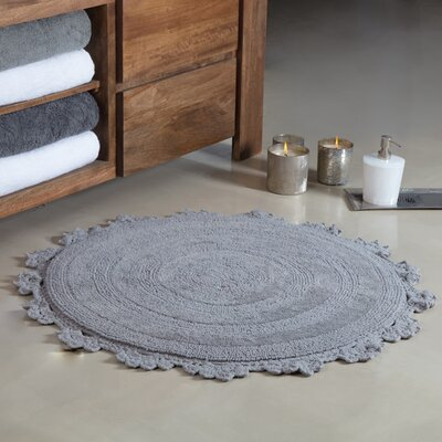 Gottschalk Crochet Border Tufted Bath Rug Color: Gray