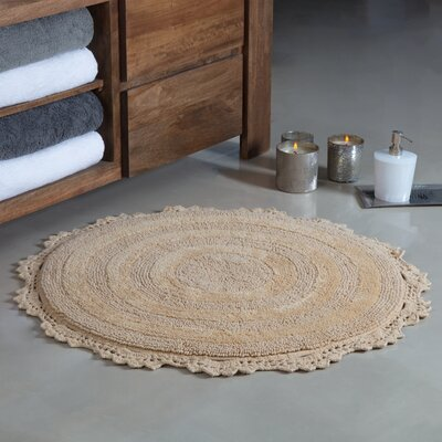 Gottschalk Crochet Border Tufted Bath Rug Color: Beige