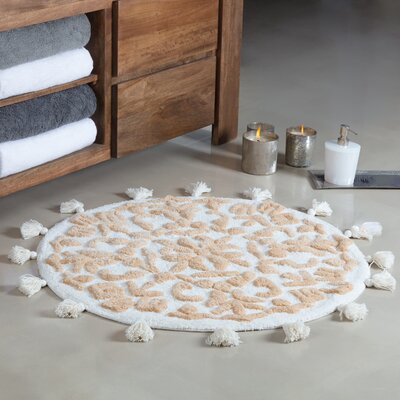 Radle Round Tufted With Tassels Bath Rug Color: Ivory/Beige