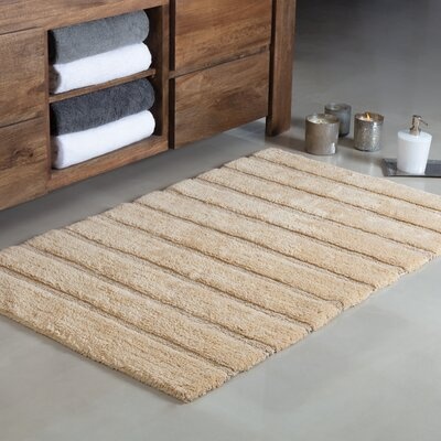 Douberly Handloom Stripe Bath Rug Color: Beige, Size: Large