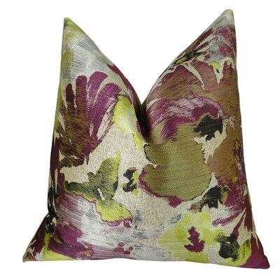 Eells Fuchsia Citrine Greige Luxury Throw Pillow