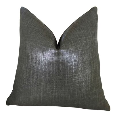 Franz Metallic Luxury Throw Pillow Size: Double Sided 24 x 24, Fill Material: Insert Option: 95/5 Feather/Down