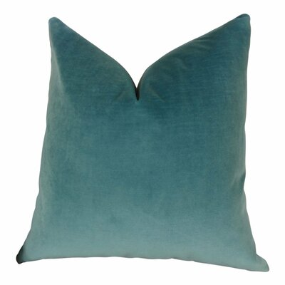 Frasher Luxury Designer Pillow Size: Double Sided 22 x 22, Fill Material: Insert Option: H-allrgnc Polyfill