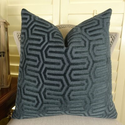 Frates Graphic Maze Pillow Size: Double Sided 16 x 16, Fill Material: Insert Option: 95/5 Feather/Down