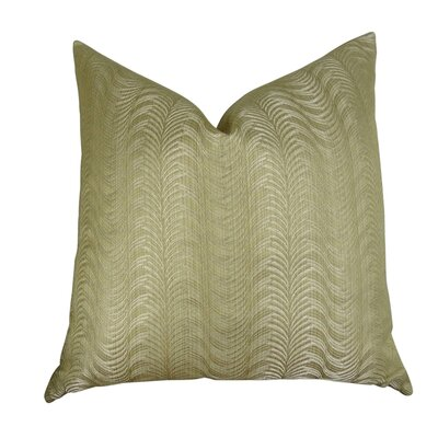 Jorden Sandstone Pewter Designer Luxury Throw Pillow