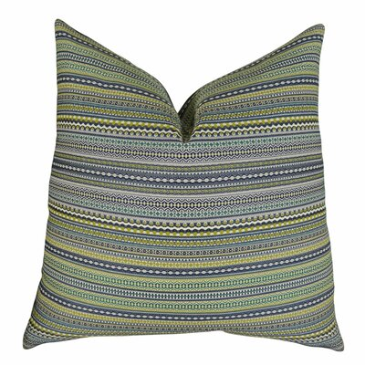 Lemuel Stripe Chartreuse Throw Pillow
