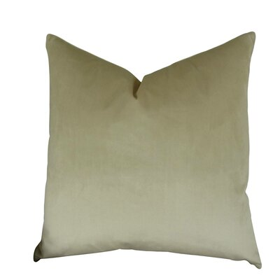 Kimsey Solid Luxury Throw Pillow Size: Double Sided 22 x 22, Fill Material: Insert Option: 95/5 Feather/Down