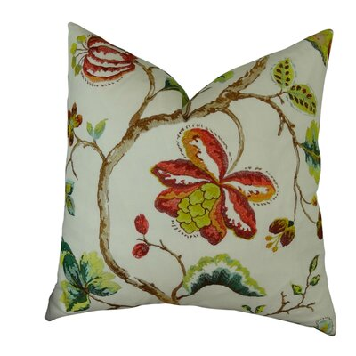 Dennett Floral Embroide Throw Pillow