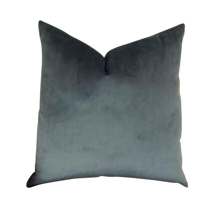Kimsey Solid Luxury Throw Pillow Size: Double Sided 16 x 16, Fill Material: Insert Option: 95/5 Feather/Down