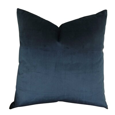 Kimsey Solid Luxury Throw Pillow Size: Double Sided 18 x 18, Fill Material: Insert Option: 95/5 Feather/Down
