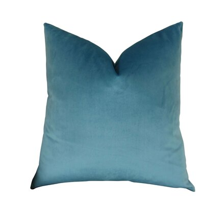 Kimsey Solid Luxury Throw Pillow Size: Double Sided 24 x 24, Fill Material: Insert Option: 95/5 Feather/Down