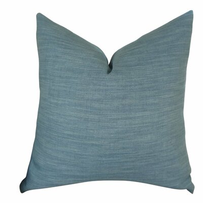 Linscott Linen Luxury Throw Pillow Size: Double Sided 22 x 22, Fill Material: Insert Option: 95/5 Feather/Down