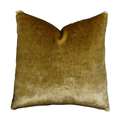 Waggoner Luxury Sable Mink Faux Fur Throw Pillow