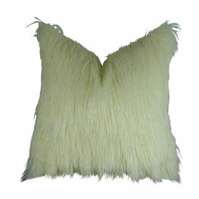 Jowett Curly Mongolian Faux Fur Throw Pillow