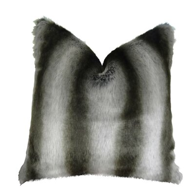 Wagner Luxury Chinchilla Faux Fur Throw Pillow